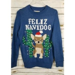Tipsy Elves Ugly Christmas Sweater Dog